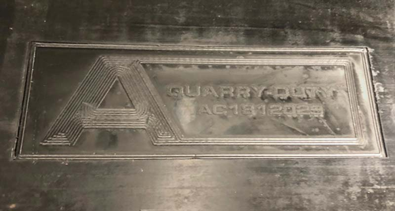 ASGCO Heavy Duty Conveyor Belting Quarry Duty Engraved